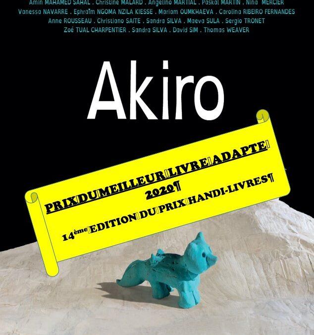 AKIRO – Prix du Meilleur Livre Adapté 2020