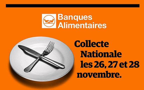 La Collecte Nationale des Banques Alimentaires aura lieu le 26, 27 et 28 novembre 2021