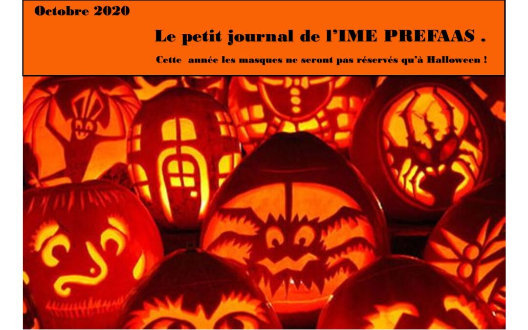 Le Journal de l'IME PREFAAS – Octobre 2020