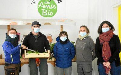 Vente directe de fruits et légumes à la Boutique des Amis Bio