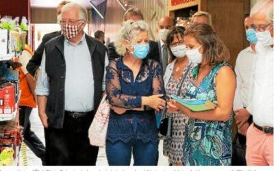 La Secrétaire d'État, Olivia GREGOIRE, en visite à l'Épiderie Solidaire de Vannes