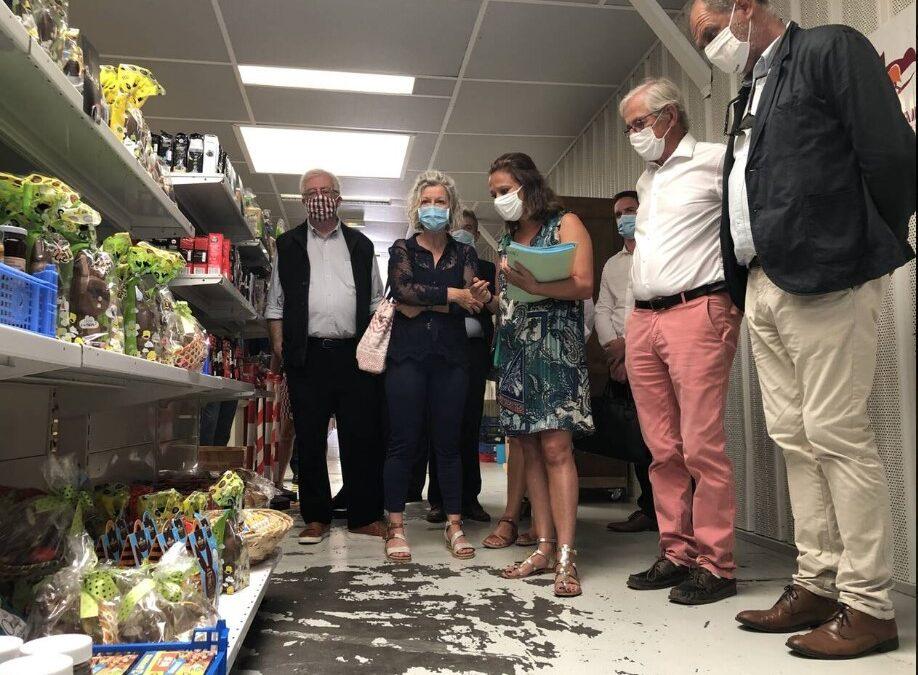 Vannes. La Secrétaire d'Etat, Olivia GREGOIRE, en visite dans le Morbihan